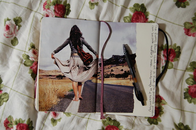 Diary collage by iHanna: Where am I going? #journaling