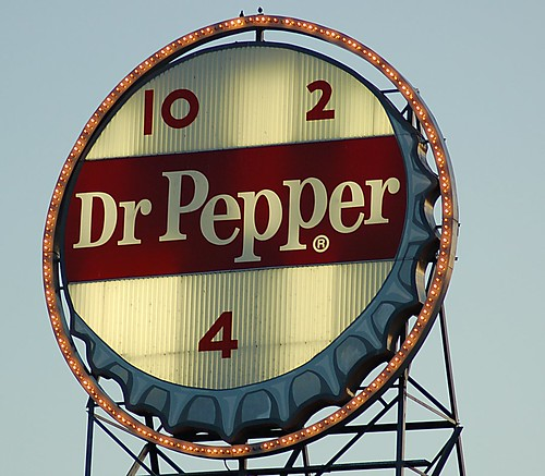 Roanoke, Virginia's famous Neon Dr. Pepper sign!!