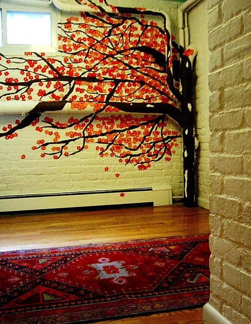 Cherry blossom tree mural flickr photo sharing for Cherry blossom tree mural