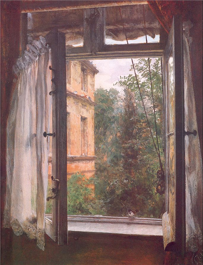Forgotten master adolf von menzel polish german 1815 for Window in german