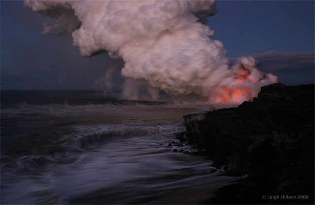 Hawaii's Active Lava Flow Before the Sun Comes Up
