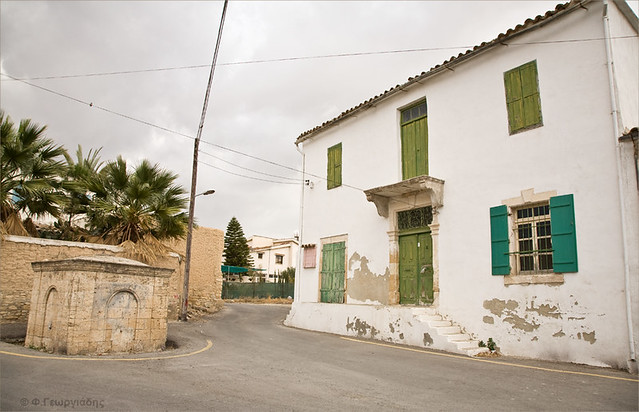 Old house and fountain, Athienou village