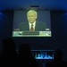 Small photo of Tom Brokaw introducing the debate