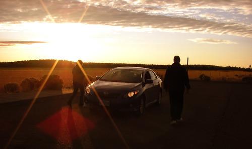 car oregon sunrise parents father mother flare