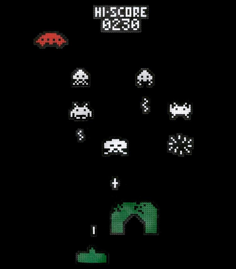 Space Invaders con Hama Beads by El Gran Héroe Americano