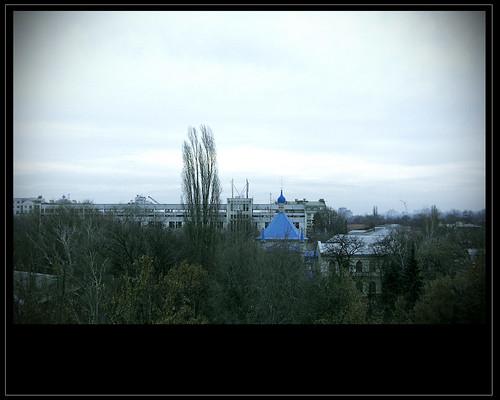 urban church cityscape chisinau moldova overview