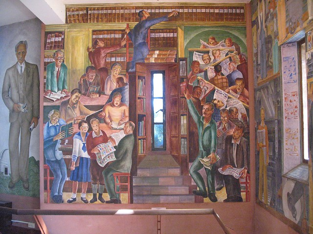 Coit tower wpa mural explore gary soup 39 s photos on for Coit tower mural