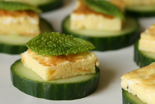 Egg mint and cucumber canap s sunday nite dinner for Canape recipe