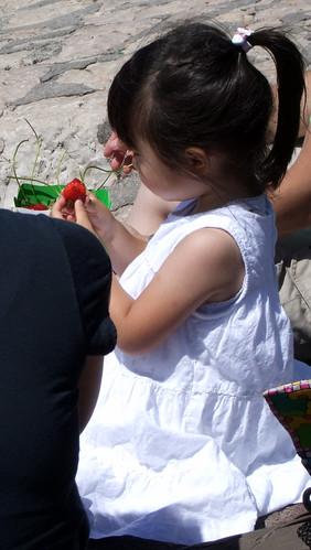 la petite fille aux fraises by Melissa Likos