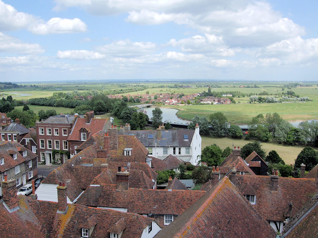 The View From St. Mary's Church Tower, Rye, East Sussex.