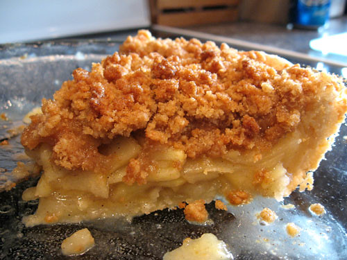 apple pie with brown sugar streusel topping | more about thi ...