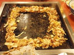 meal(0.0), samgyeopsal(0.0), dak galbi(0.0), monjayaki(1.0), food(1.0), dish(1.0), cuisine(1.0),
