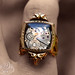 L'AGE D'OR SteamPunk Vintage Watch Ring by 19 Moons GOLD RUBIES Neo Victorian Art Deco