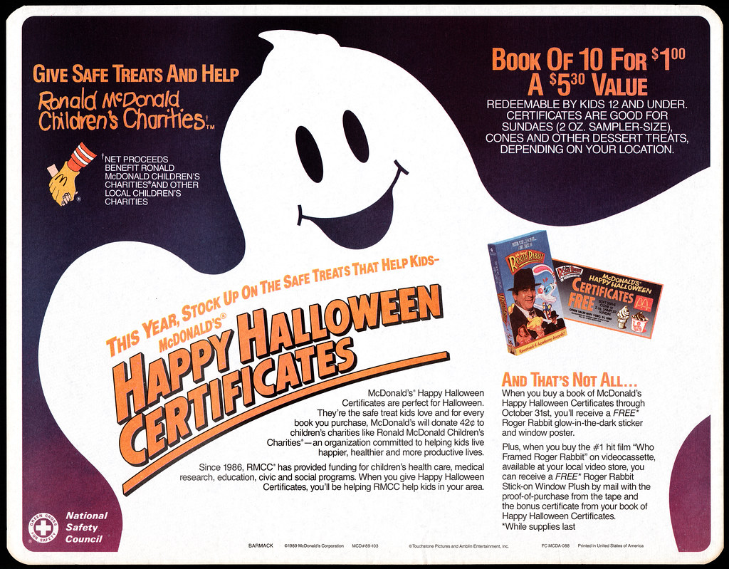 Jasonliebigs most interesting flickr photos picssr mcdonalds trayliner placemat gift certificate happy halloween 1989 1betcityfo Image collections