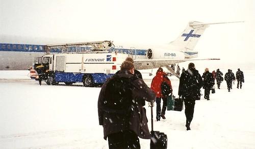 Oulu Airport 2002 Finnair MD-83