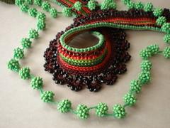 Ivy ... Freeform Crochet Necklace