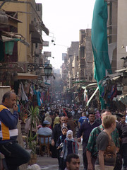 Cairo's major bazaar, Khan el-Khalili.