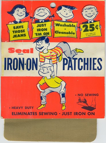 "Drezo ""Seal brand"" Iron-On Knee Patches - 1950's"