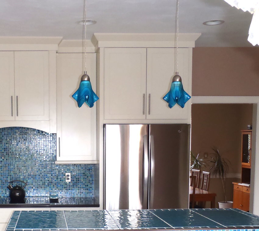Turquoise Blue Med Kitchen Island Pendant Lights One Of A Flickr