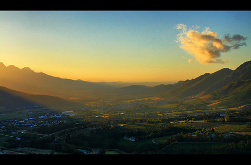 Franschoek Valley at Sunset
