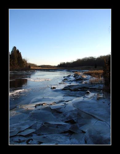 winter ice water river stream massachusetts dartmouth icesheets downstream