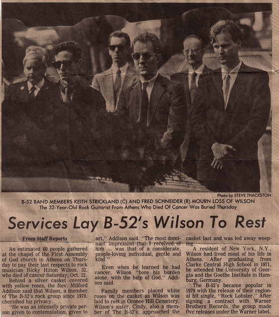 Ricky Wilson's Funeral, 1985