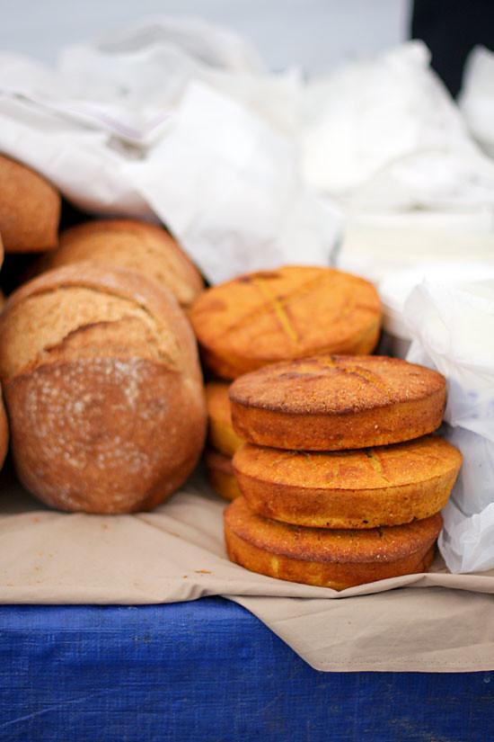 istanbul local bazaar corn bread