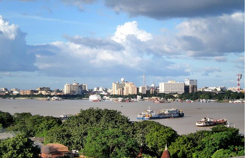 Kolkata on the Hooghly river, India