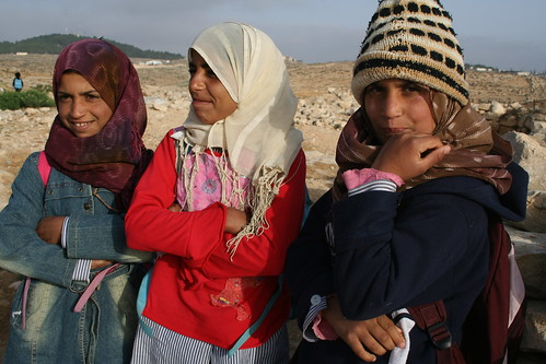 School girls, rural West Bank
