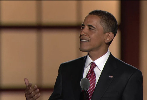 Barack Obama accepts the nomination