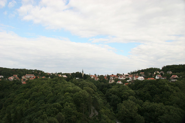View from Krivoklat Castle. Czech Republic