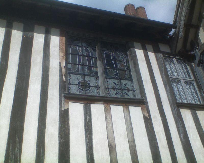 Striped walls - and fancy windows Inside Ightham Mote: Open Heritage Day Sevenoaks Circular