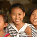 Chinese Girls with Peace Sign - Xishuangbanna, China