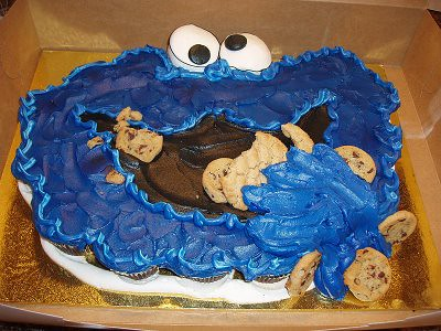 Cookie Monster Cake Wars