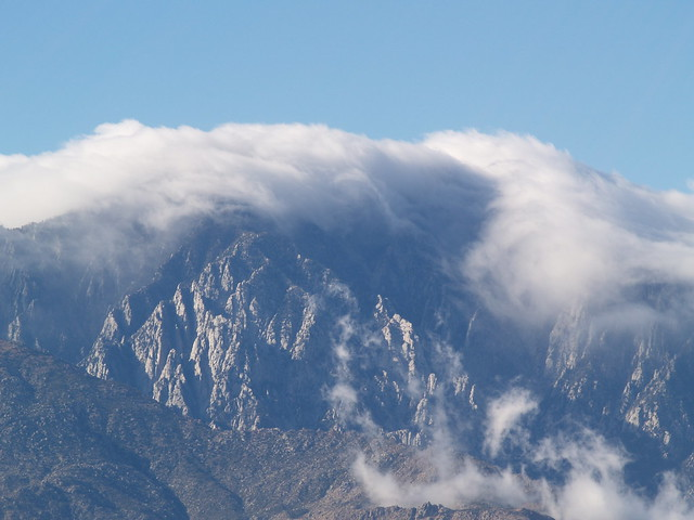 Clouds Blowing Accross Mt San Jacinto View This Morning