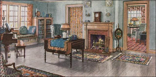 1923 Armstrong Linoleum Ad