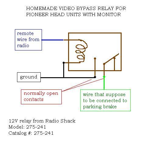 Wiring Diagram  9 Pioneer Parking Brake Bypass Wiring Diagram