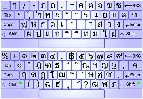Thai Keyboard Layout Thai Keyboard Flickr Photo