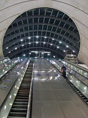 Canary Wharf: Exiting the Canary Wharf tube station