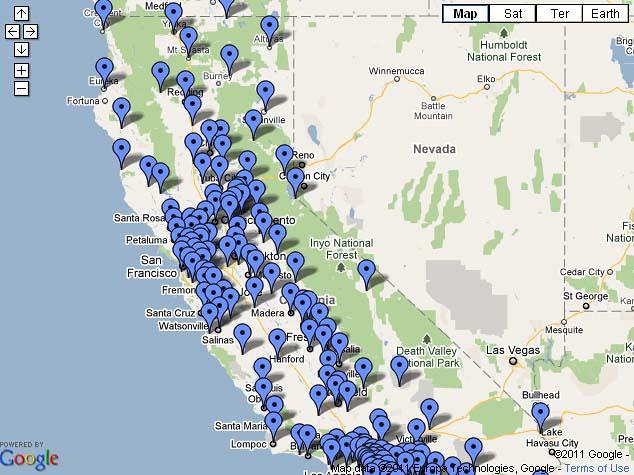 California Dmv Locations Map on
