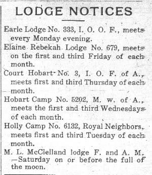 Lodge Notices
