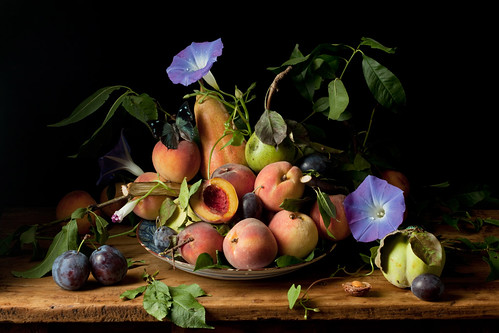 Paulette Tavormina, Peaches and Morning Glories, after G.G. (from the series Natura Morta), 2010