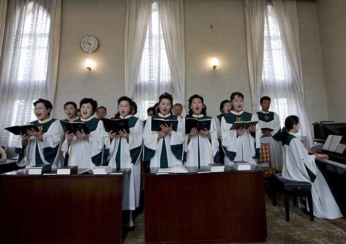 Chilgol Church in Pyongyang - North Korea