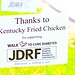 JDRF Thanks To: KFC