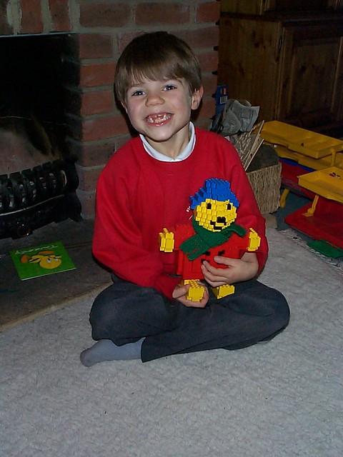 Jonathan with Lego Paddington
