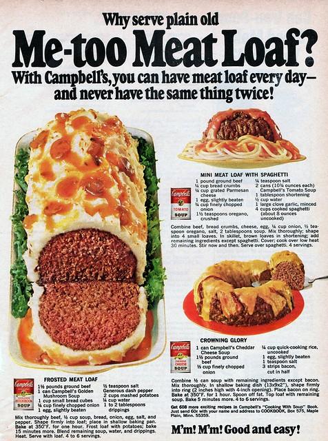Meatloaf Recipes - 1968