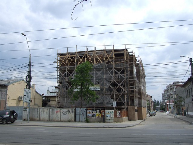 Wooden Scaffolding, and lots of it!