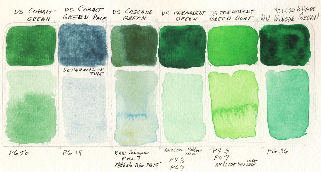 Greens palette