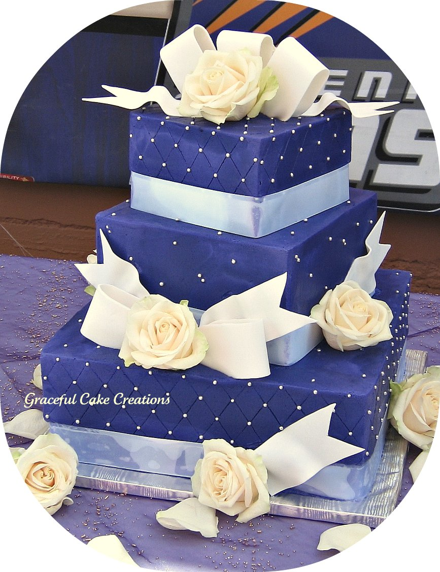 Purple Two Tier Cakes