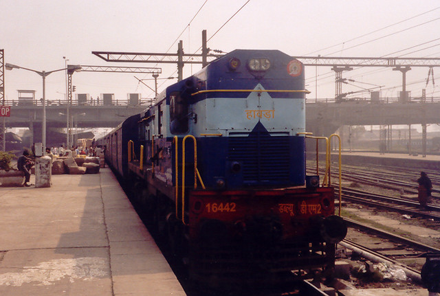 Express ready to leave Howrah Station for Bangalore, January 26, 2007